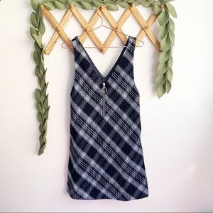 La Chapelle Plaid Shift Dress